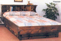 Quality Pine Wooden Frame Bed for Waterbed Mattresses