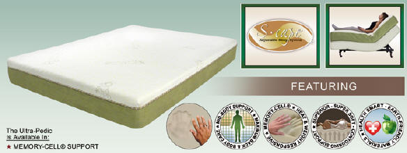 Ultra-Pedic™ Memory-Cell® with S-Cape Power Base